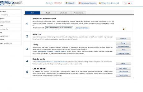 Dashboard w programie Microaudit