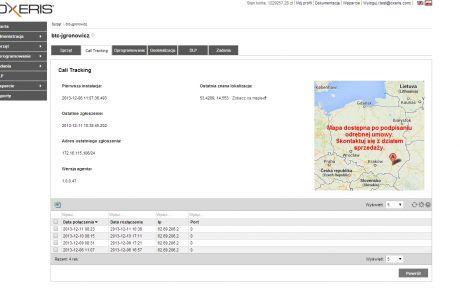 Call Tracking w programie Oxeris