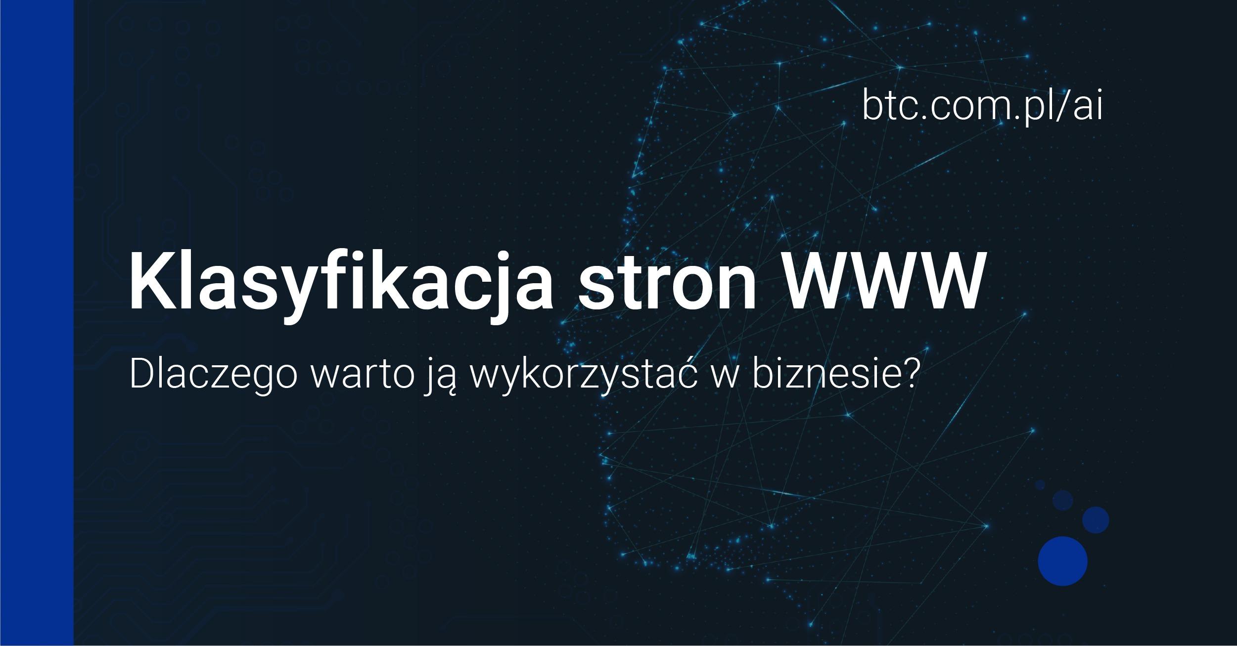 BTC AI Klasyfikacja stron WWW